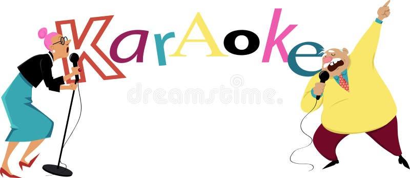 卡拉OK演唱横幅 向量例证