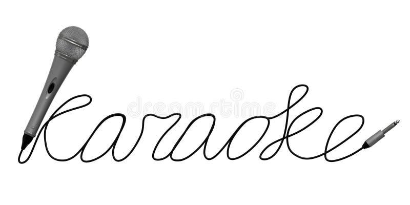 卡拉OK演唱的话筒 免版税库存图片
