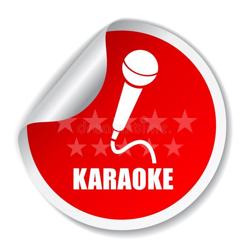 卡拉OK演唱 库存例证