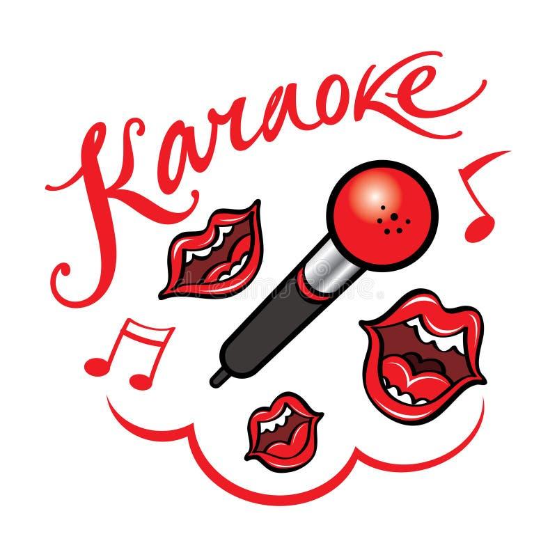 卡拉OK演唱 向量例证
