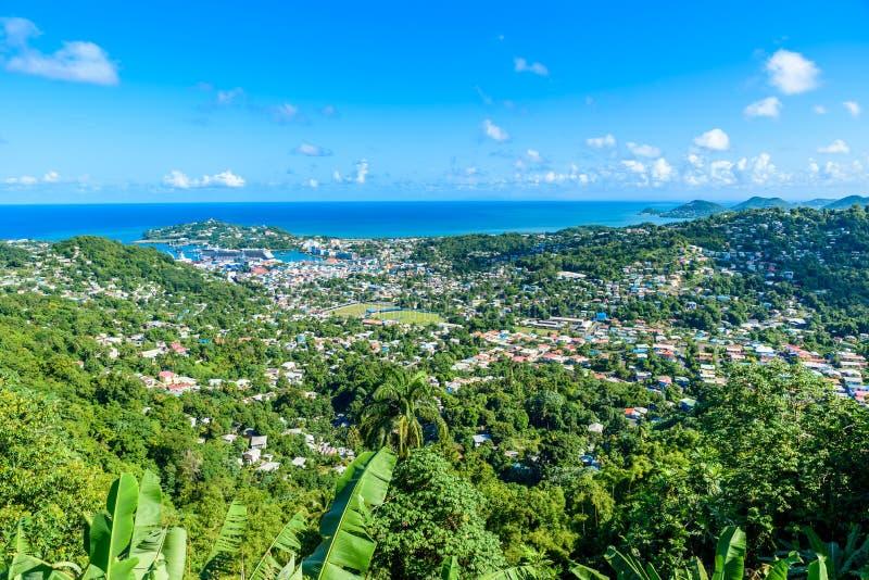 卡斯特里,圣卢西亚-在圣卢西亚的加勒比岛上的热带海岸海滩 这是与白色沙子的一个天堂目的地 免版税图库摄影
