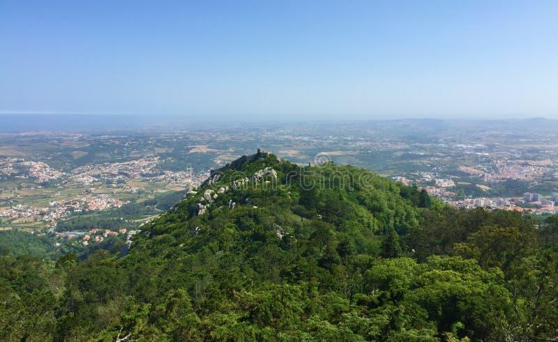 卡斯特鲁dos的Mouros停泊城堡 免版税库存照片