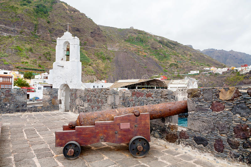 卡斯蒂略de圣米格尔火山,加拉奇科 特内里费岛,西班牙 免版税图库摄影