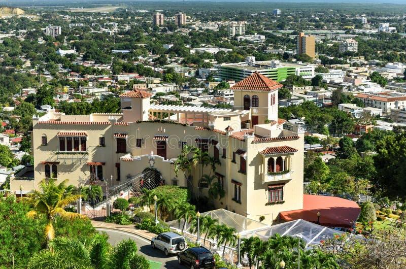 卡斯蒂略Serralles豪宅- Ponce,波多黎各 库存图片
