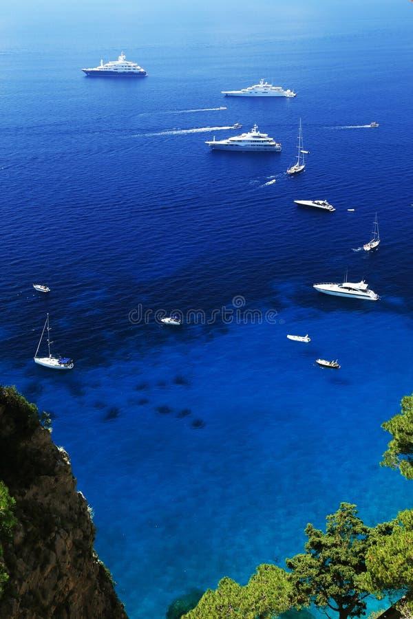 卡普里岛海岛,意大利,欧洲 免版税图库摄影
