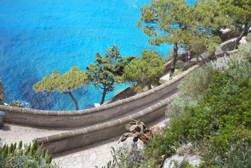 卡普里岛海岛,通过克虏伯,意大利 免版税图库摄影