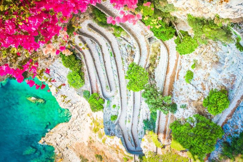 卡普里海岛,意大利 免版税库存图片