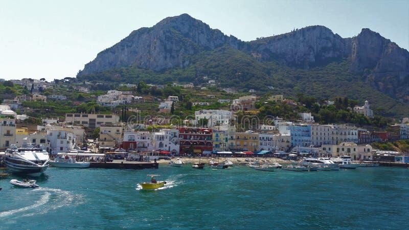 卡普里,意大利海岛  免版税库存图片