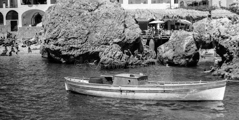 卡普里,意大利,1967年-典型 库存照片