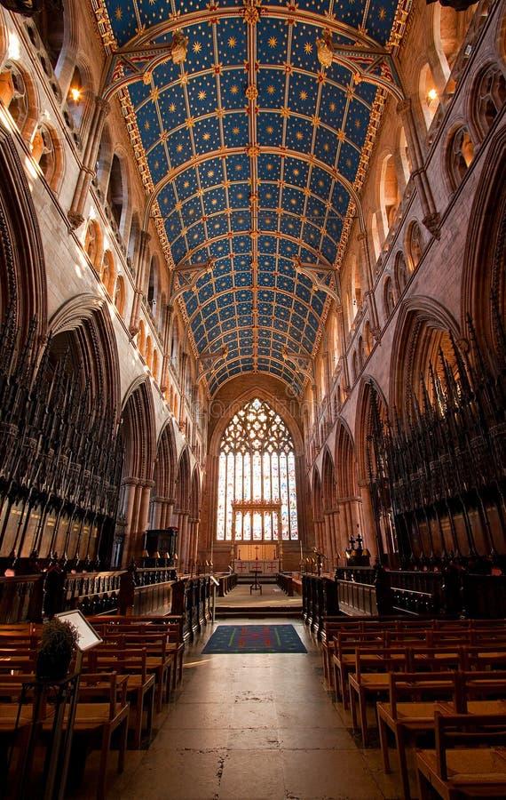 卡来尔大教堂内部 免版税图库摄影