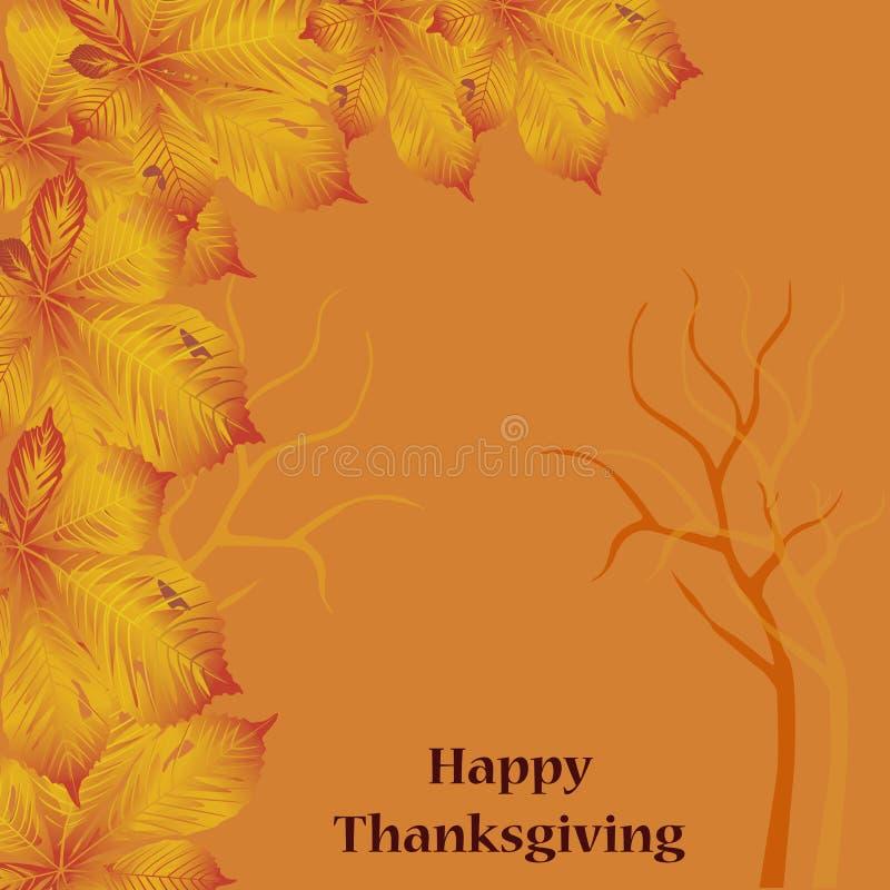 卡片为thankgiving的天 向量例证