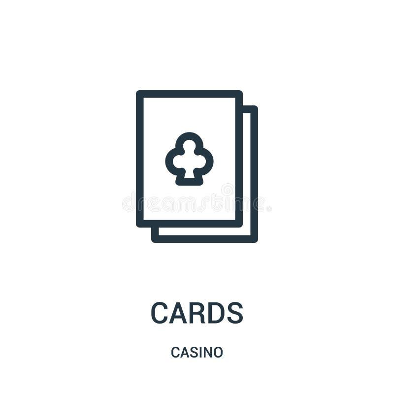 卡片从赌博娱乐场汇集的象传染媒介 稀薄的线路梳理机概述象传染媒介例证 皇族释放例证