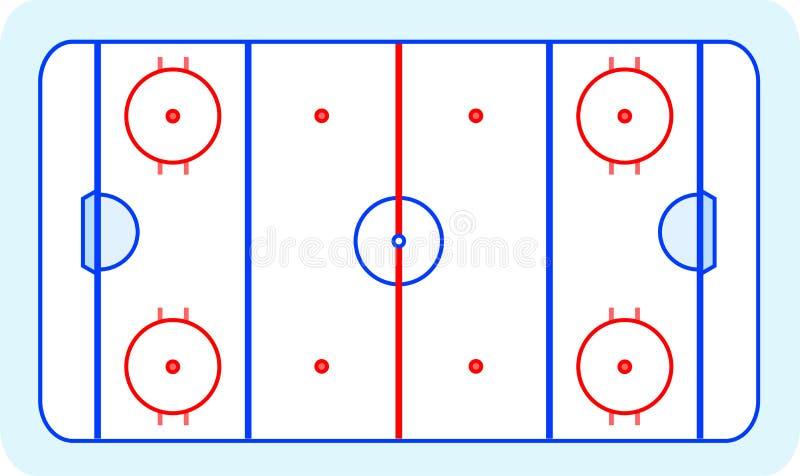 卡片字段问候曲棍球冰向量 向量例证