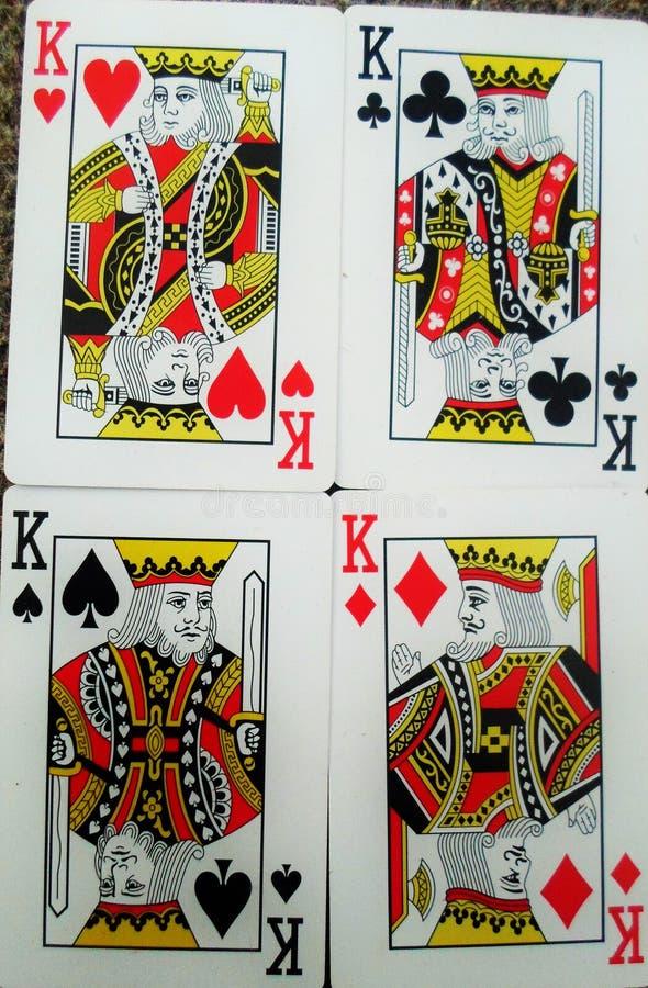 卡片的四位国王 库存图片
