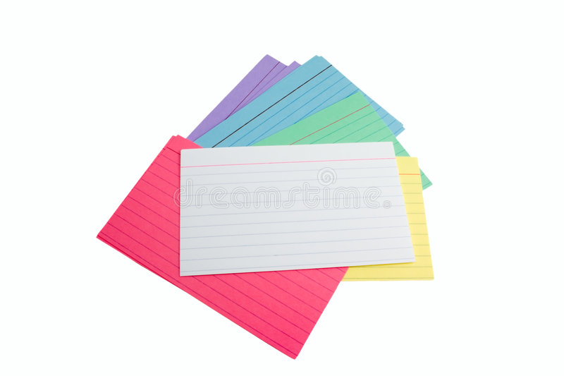 卡片索引堆 免版税库存照片