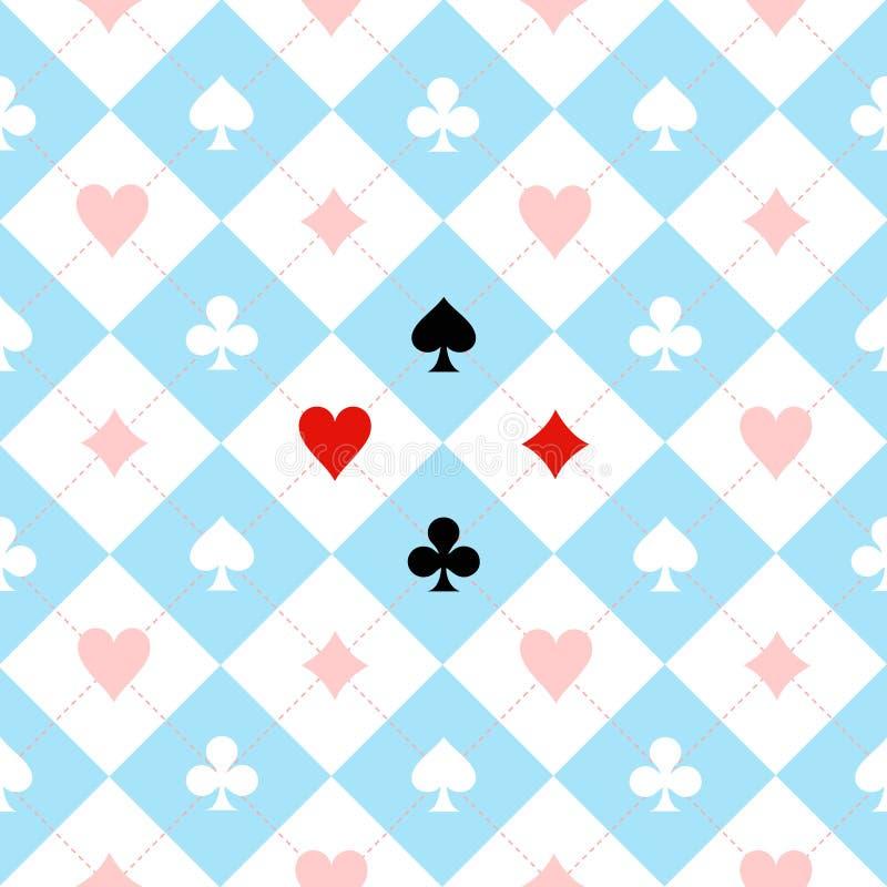 卡片衣服棋盘深蓝色白色 向量例证