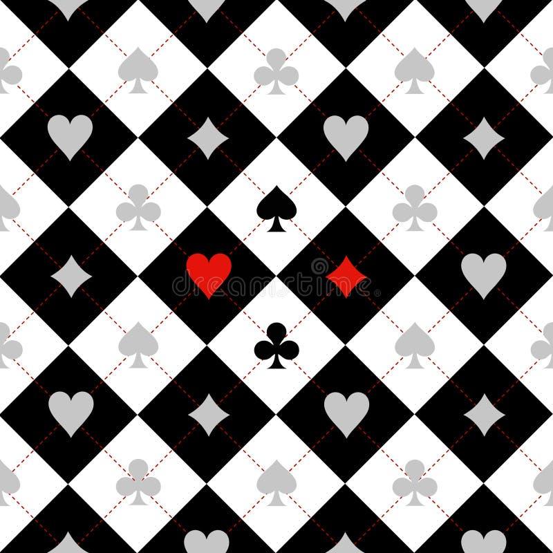 卡片衣服棋盘黑色白色 皇族释放例证