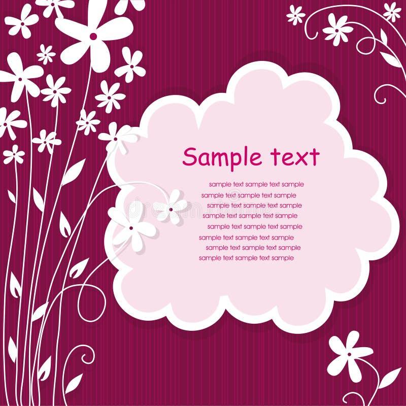 卡片设计框架问候模板 向量例证