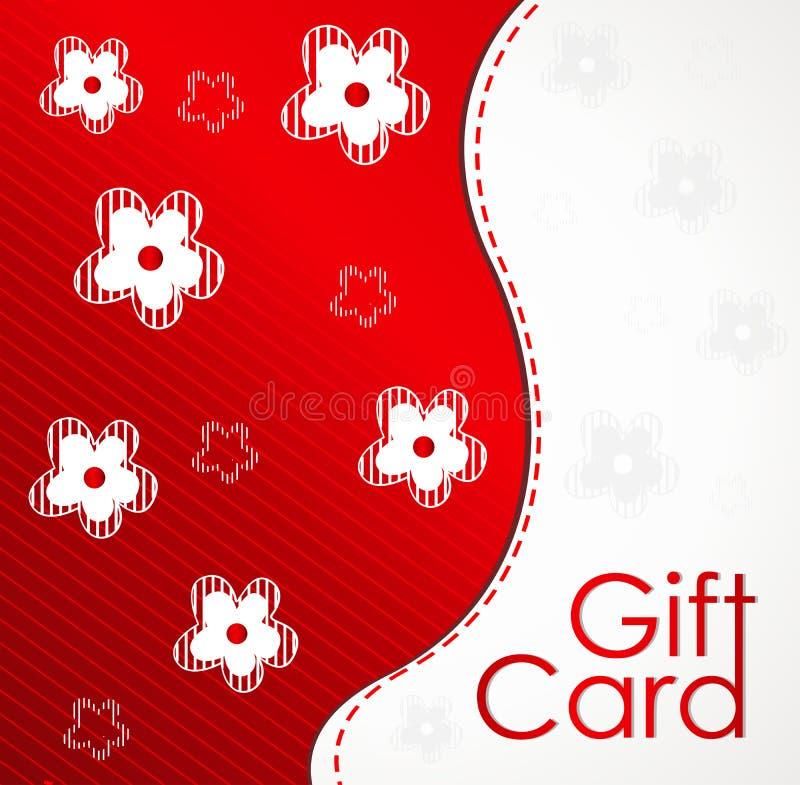 卡片设计花礼品模板 免版税库存图片