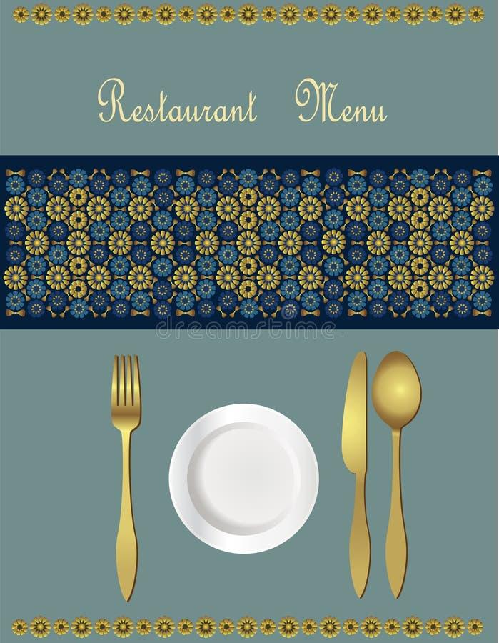 卡片设计菜单 皇族释放例证