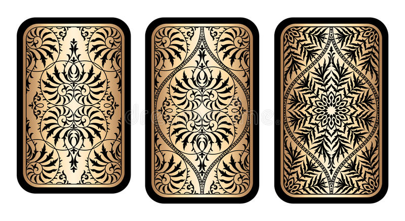 卡片设计设置了与花卉维多利亚女王时代的葡萄酒纹理 向量例证