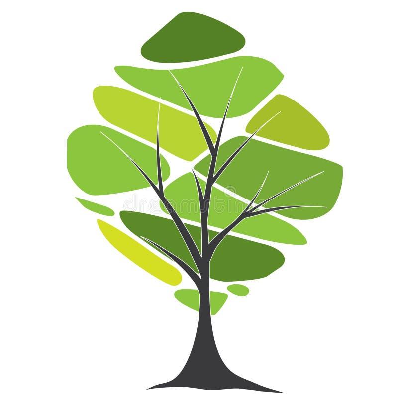 卡片设计风格化文本结构树 向量例证