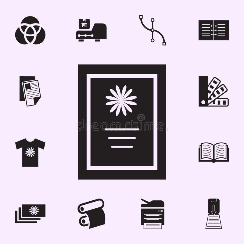 卡片象 网和机动性的印刷品房子象全集 皇族释放例证