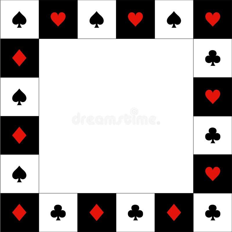 卡片适合红色黑白色棋盘边界 也corel凹道例证向量 库存例证