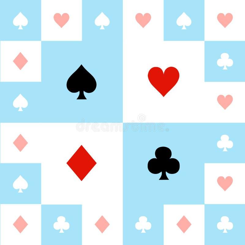 卡片适合蓝色红色白色棋盘背景传染媒介例证 向量例证
