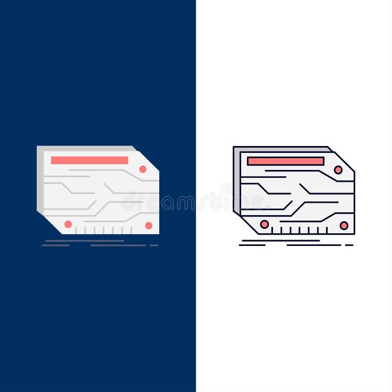 卡片,组分,习惯,电子,记忆平的颜色象传染媒介 向量例证