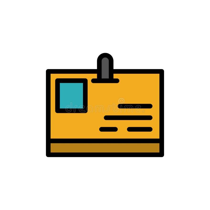 卡片,身份证,身分,通行证平的颜色象 传染媒介象横幅模板 库存例证
