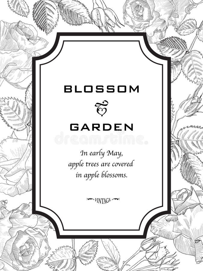 贺卡由手拉的玫瑰做成 皇族释放例证