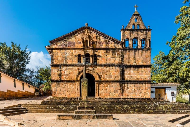 卡皮亚de圣塔巴巴拉Barichara桑坦德哥伦比亚 库存图片