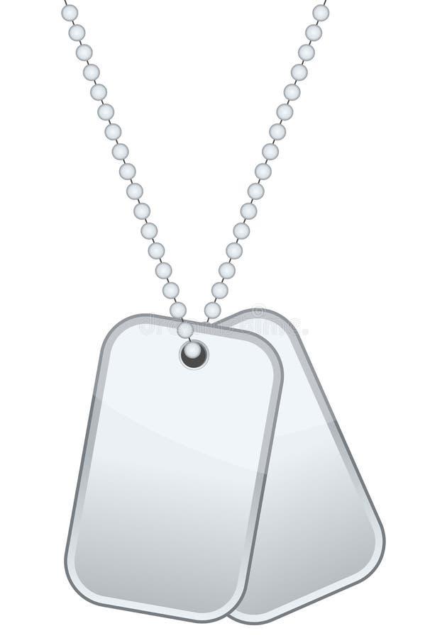 卡箍标记或身分板材 皇族释放例证