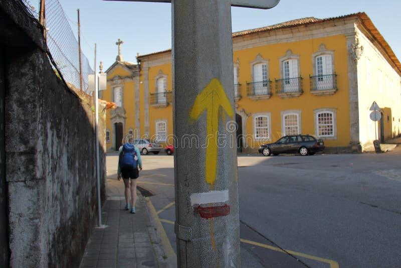 卡米诺de圣地亚哥,标志,国家 库存图片