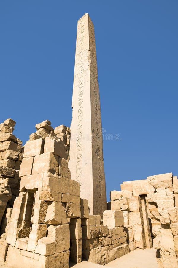 卡纳克神庙寺庙,卢克索,埃及古老废墟  库存图片