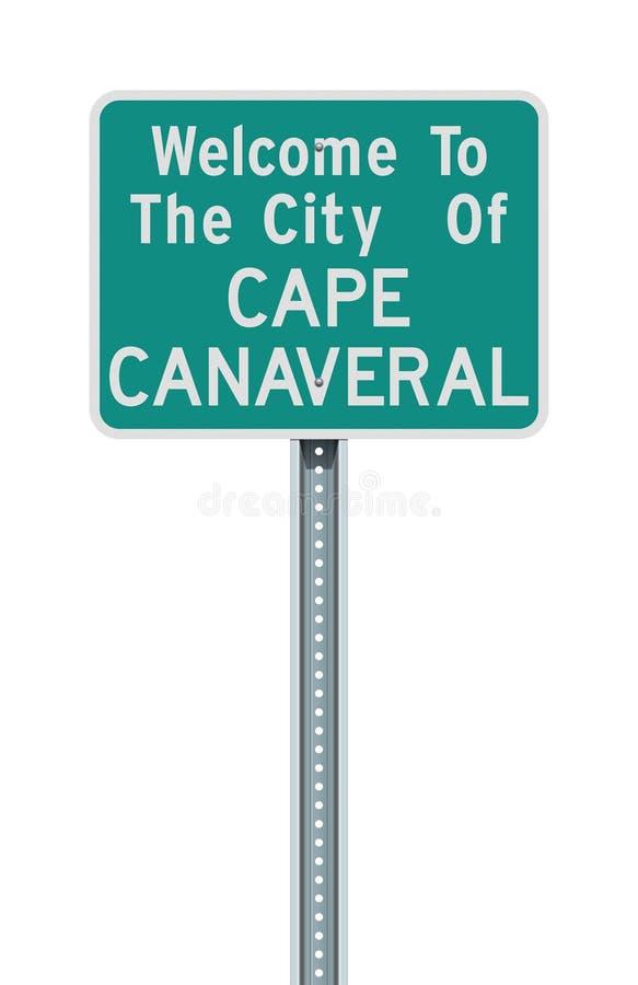 卡纳维拉尔角路标城市 皇族释放例证