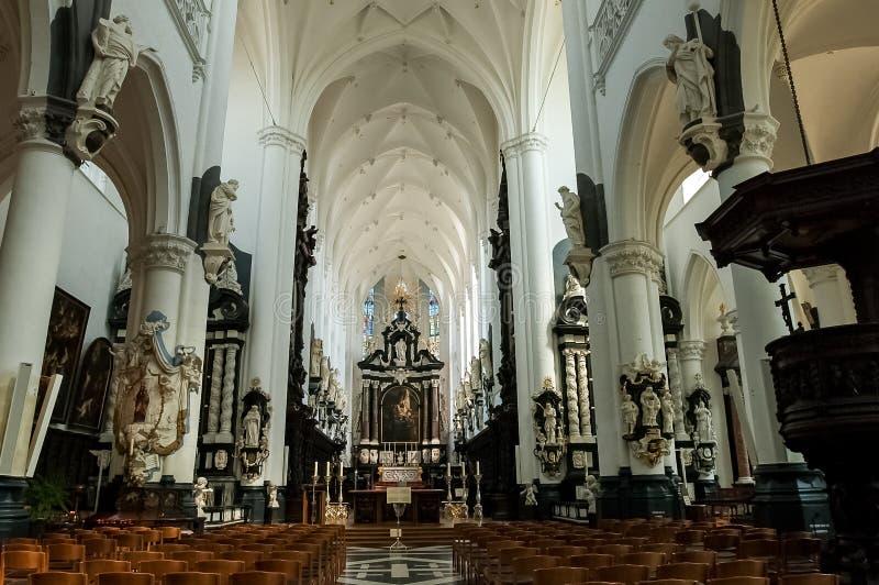 卡罗勒斯Borromeus教会在安特卫普,比利时 图库摄影
