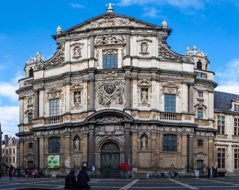 卡罗勒斯Borromeus教会 库存照片