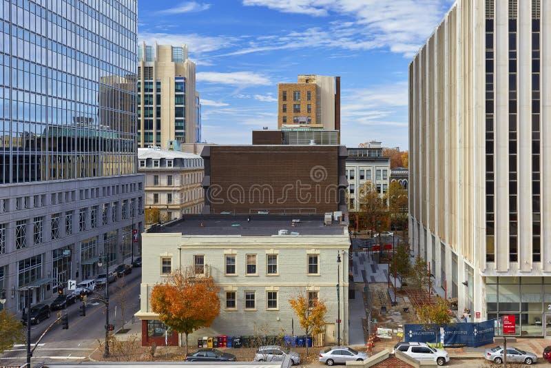 卡罗来纳州街市北部罗利 免版税库存照片