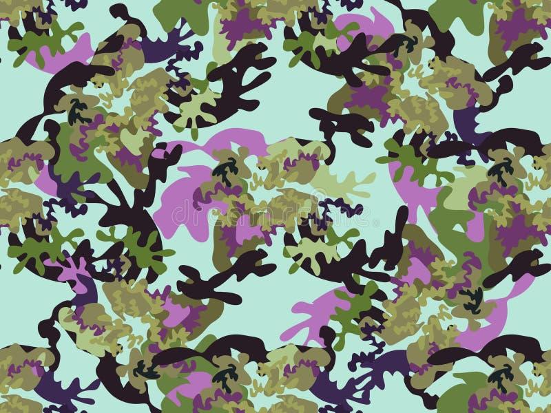卡莫无缝的pattern67 向量例证
