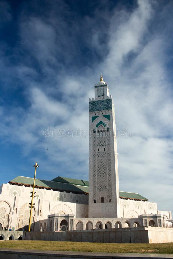卡萨布兰卡哈桑ii摩洛哥国王清真寺 图库摄影