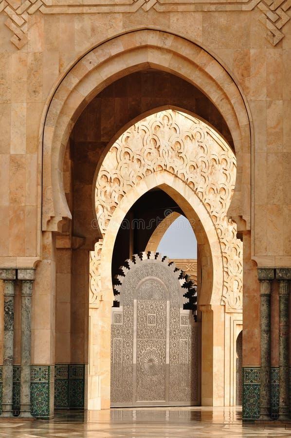 卡萨布兰卡详细资料哈桑ii清真寺 库存照片