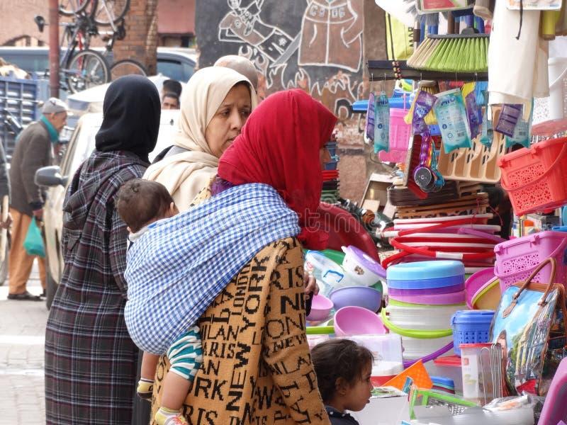 卡萨布兰卡,摩洛哥街道场面  免版税库存照片