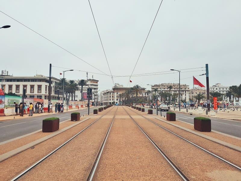 卡萨布兰卡,摩洛哥都市风景  免版税图库摄影