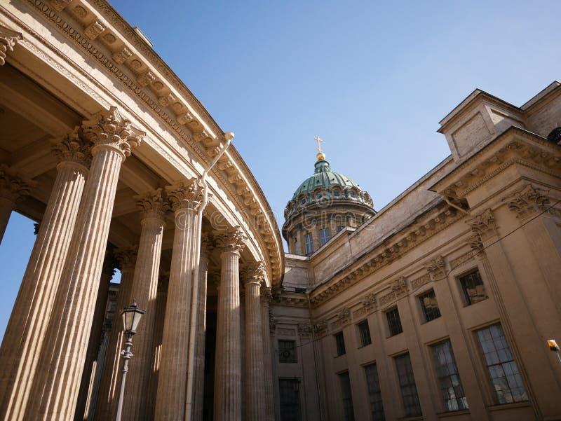 卡赞大教堂圣彼德堡俄罗斯 免版税库存照片