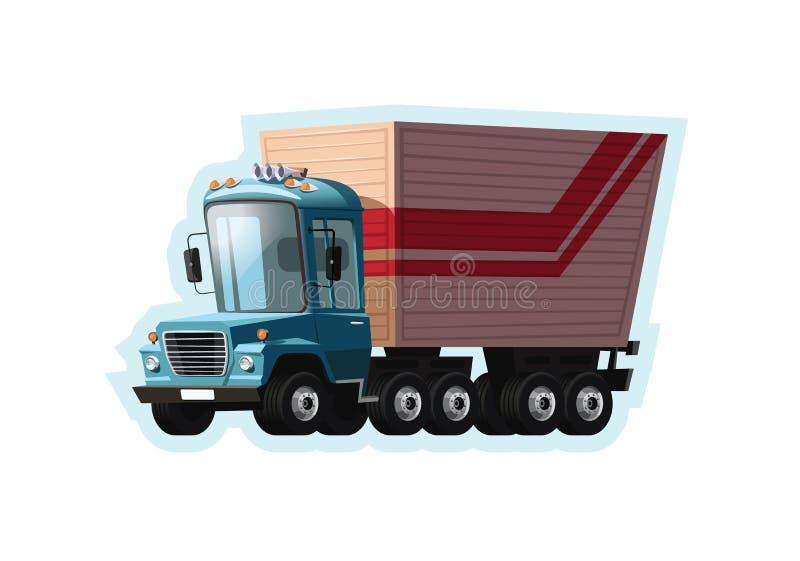 卡车半传染媒介例证 皇族释放例证