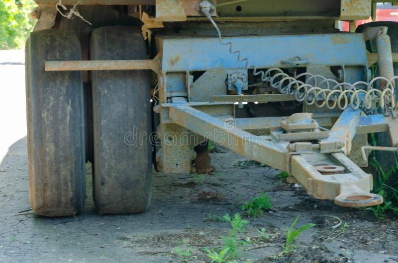 卡车和拖车之间的连接 库存照片