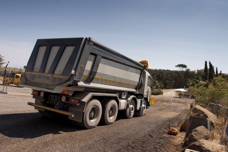 卡车和推土机 免版税图库摄影