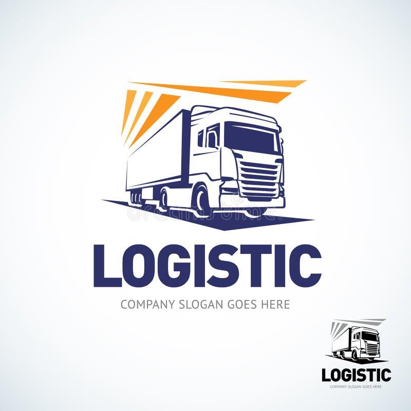 卡车商标模板 后勤把戏商标 查出的向量例证 库存例证